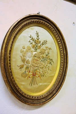 Victorian framed emboidery