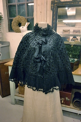 Victorian silk cape