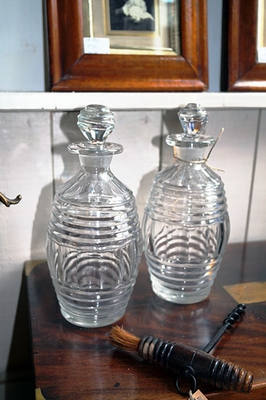 Pair of Georgian decanters