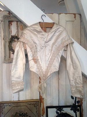 White silk bodice