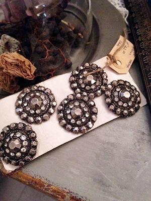 Victorian rhinestone buttons