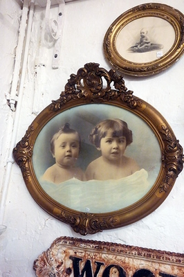 Framed childrens' portrait
