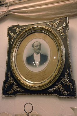 Large frame with portrait