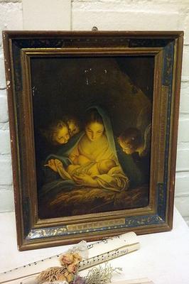 Religieus framed image