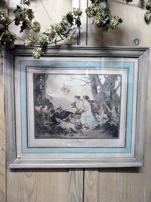 French engraving, framed