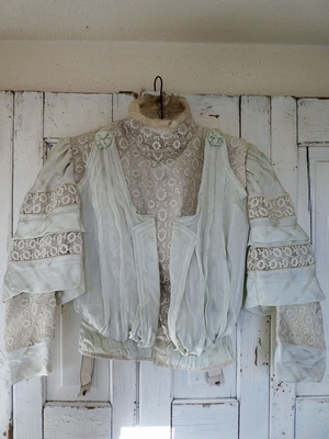 Silk and lace bodice