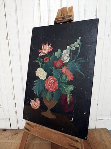 Oil on panel, study