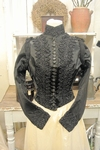 Victorian mourning bodice, beaded