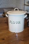 Emaille flour bin