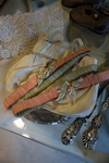 Paar zijden kousenbanden / garters