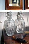 Pair of Georgian decanters