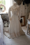 Victorian silk wedding gown