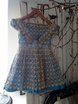 Silk and lace girls dress