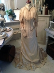 Victorian wedding gown