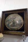 19e eeuwse gravure in passe-partout