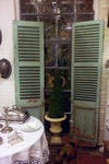 Pair of louvre shutters