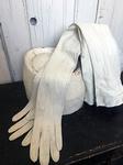 Zeemleren lange handschoenen